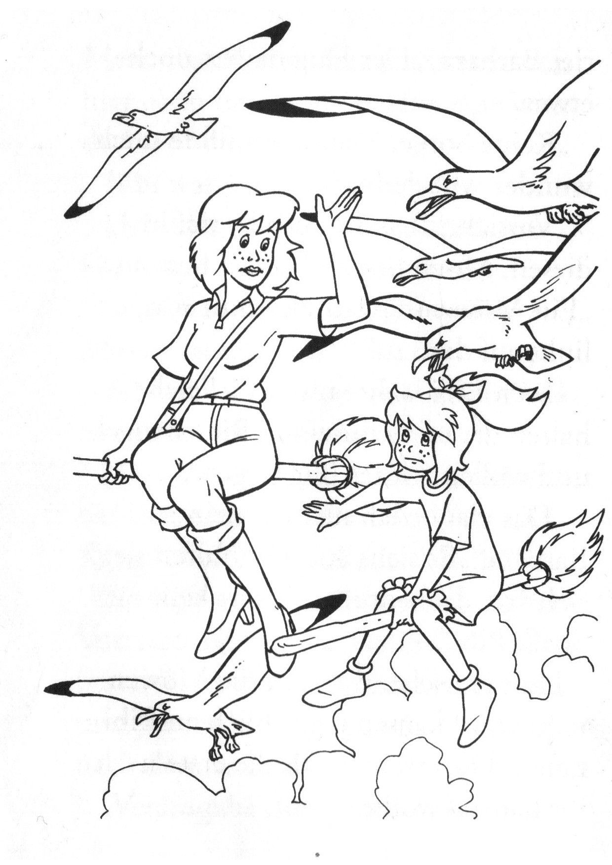 Ausmalbilder Bibi Und Blocksberg Tina (Mit Bildern mit Bibi Und Tina Malvorlage