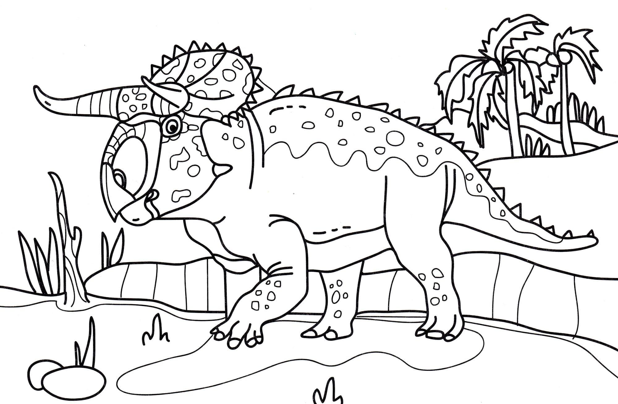 Ausmalbilder Dinosaurier. Große Sammlung Drucken in Ausmalbilder Dinosaurier
