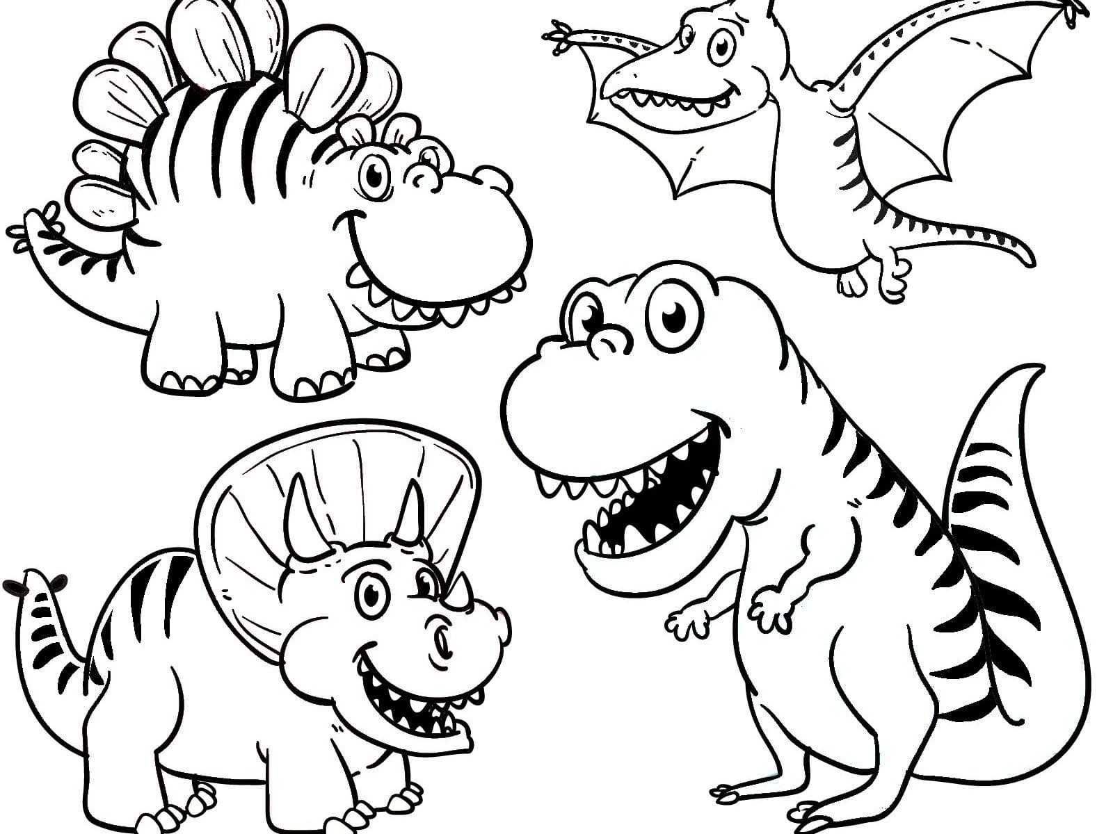 ausmalbilder dinosaurier  kinderbilderdownload