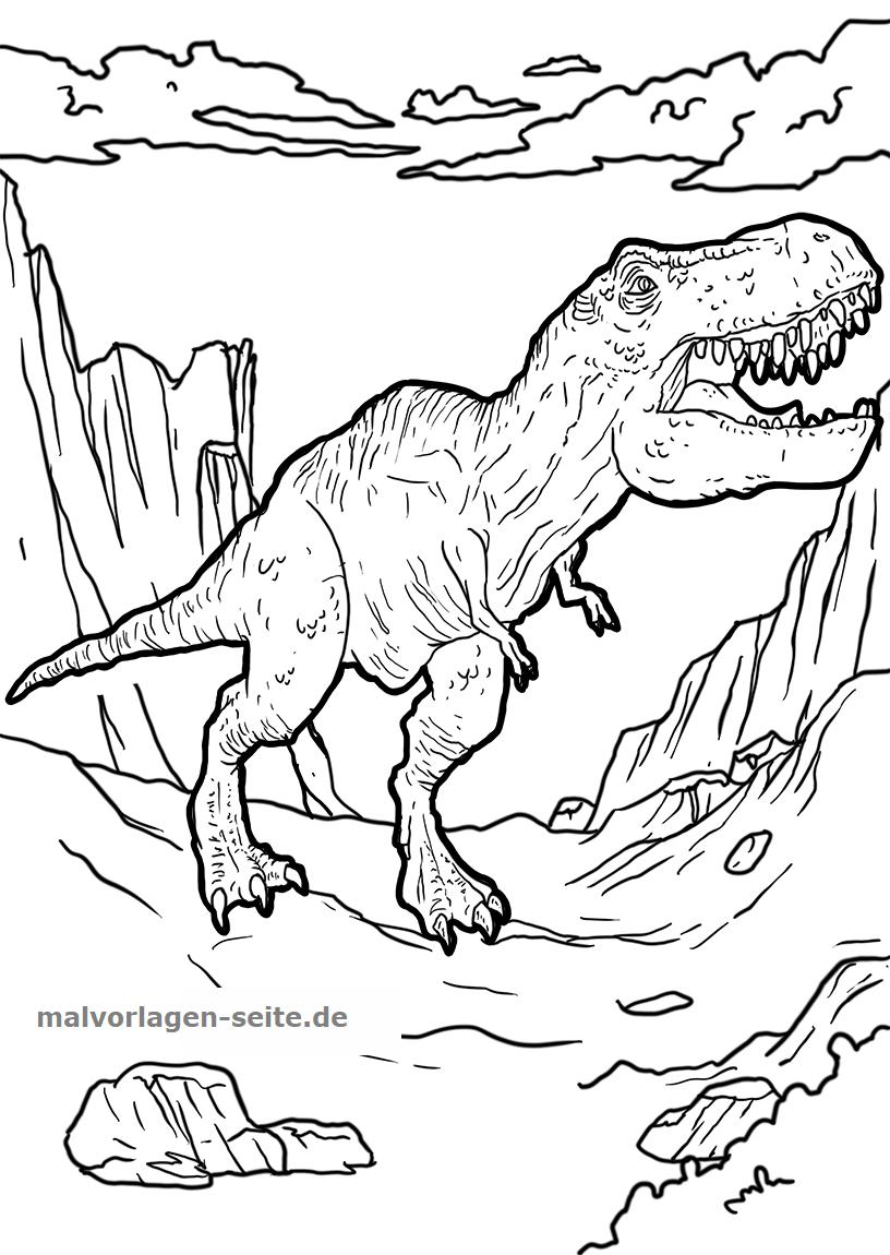 Ausmalbilder Dinosaurier Kostenlos Drucken Und Ausmalen bei Ausmalbilder Kostenlos Dinosaurier