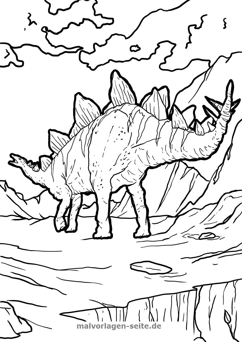 Ausmalbilder Dinosaurier Kostenlos Drucken Und Ausmalen (Mit mit Ausmalbilder Kostenlos Dinosaurier
