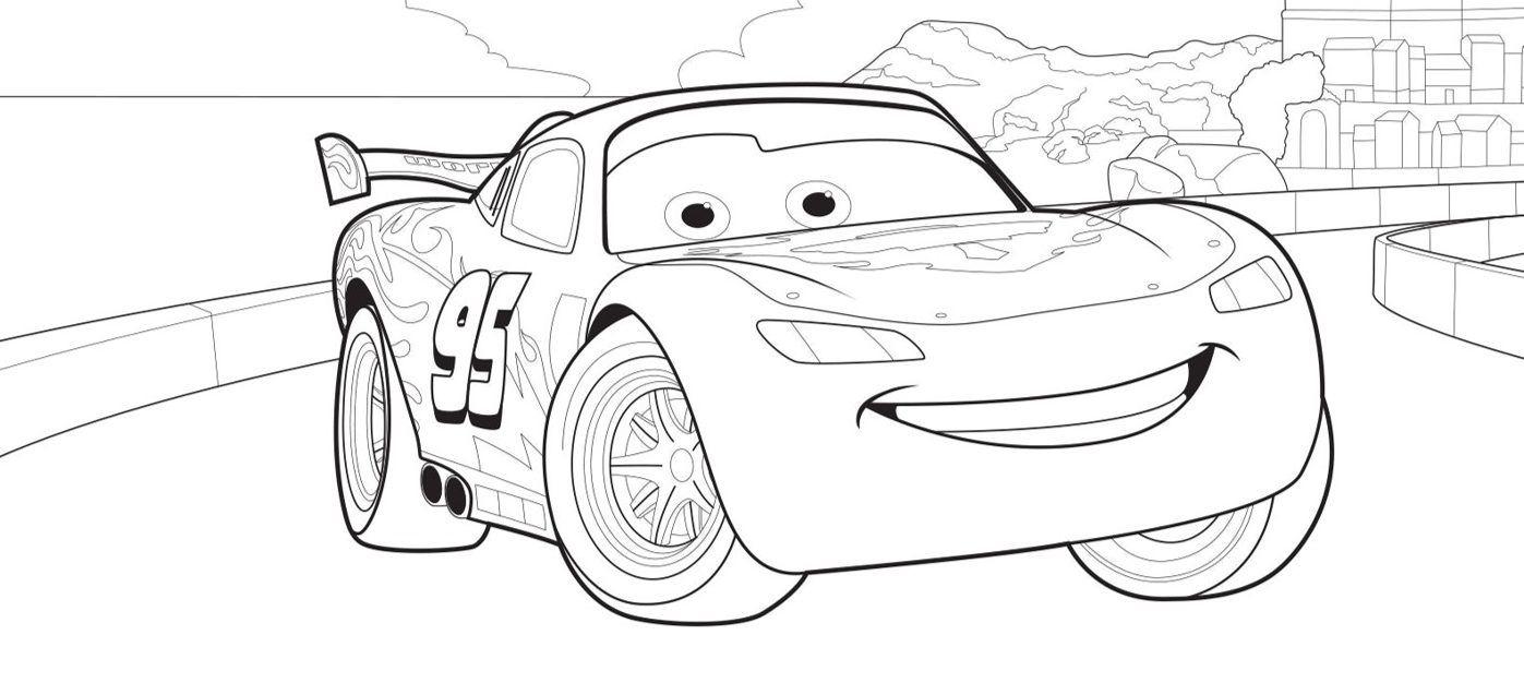 Ausmalbilder Disney Cars Und Lightning Mcqueen verwandt mit Lightning Mcqueen Malvorlage