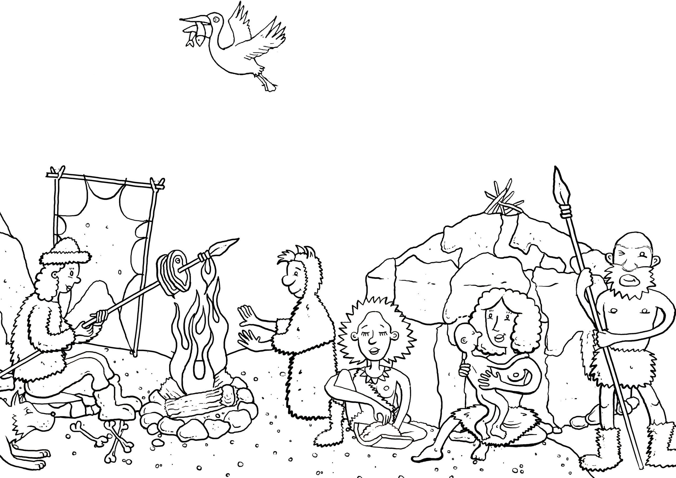 malvorlagen steinzeit  kinderbilderdownload