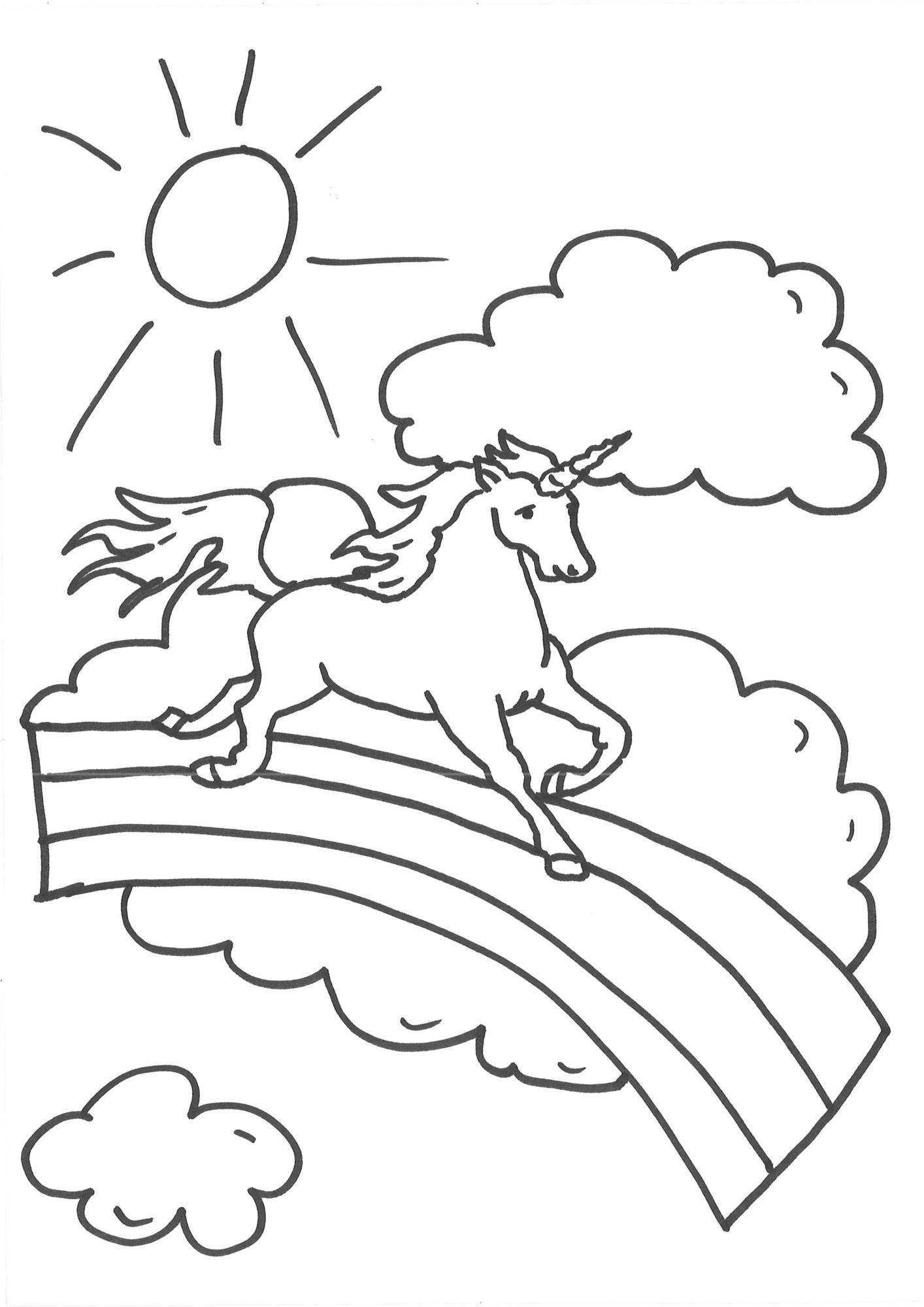 Ausmalbilder Einhorn Mit Fee - 1Ausmalbilder in Ausmalbilder Einhorn