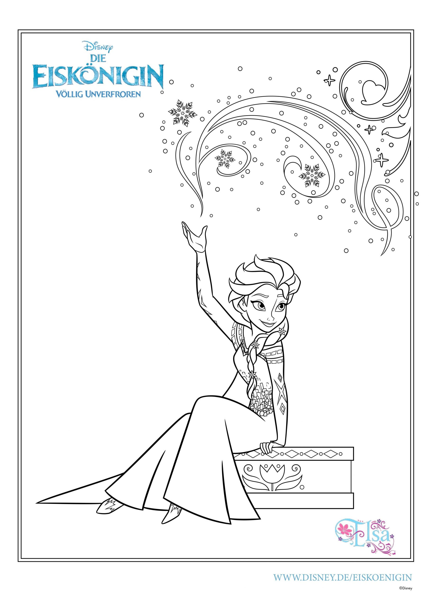 Ausmalbilder Eiskönigin | Mytoys-Blog ganzes Malvorlagen Kostenlos Disney
