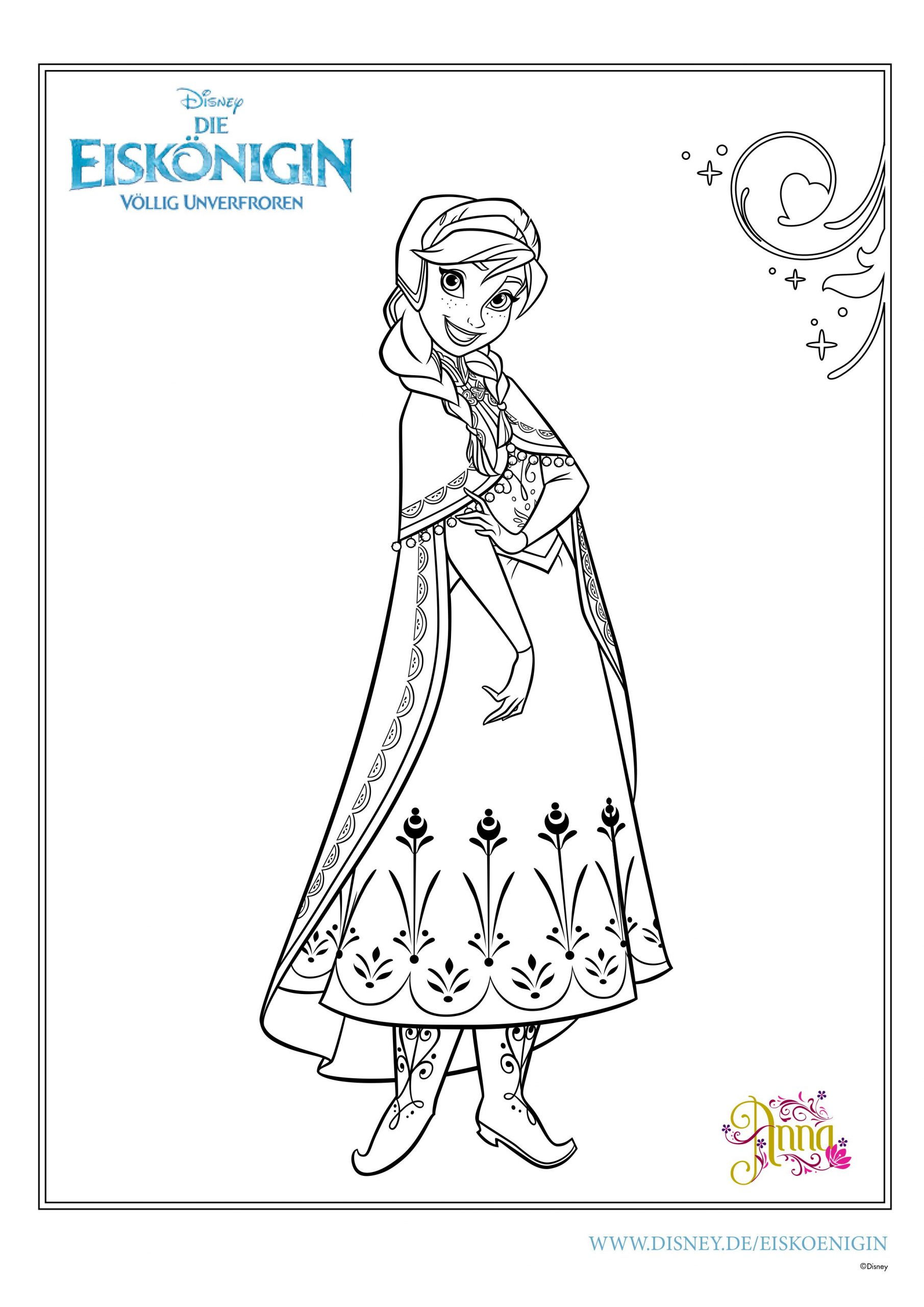 Ausmalbilder Eiskönigin | Mytoys-Blog in Gratis Malvorlagen Disney