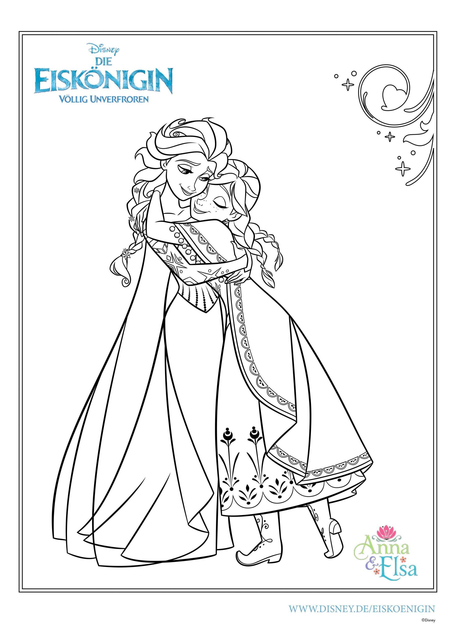 Ausmalbilder Eiskönigin | Mytoys-Blog innen Anna Und Elsa Ausmalbilder