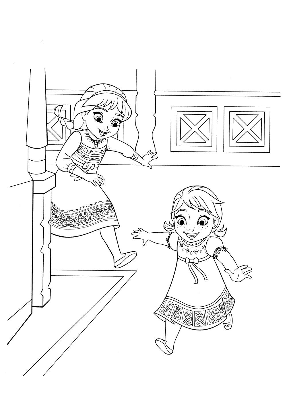 Ausmalbilder Elsa. Kostenlos Drucken, 60 Bilder Für Mädchen in Anna Und Elsa Ausmalbilder