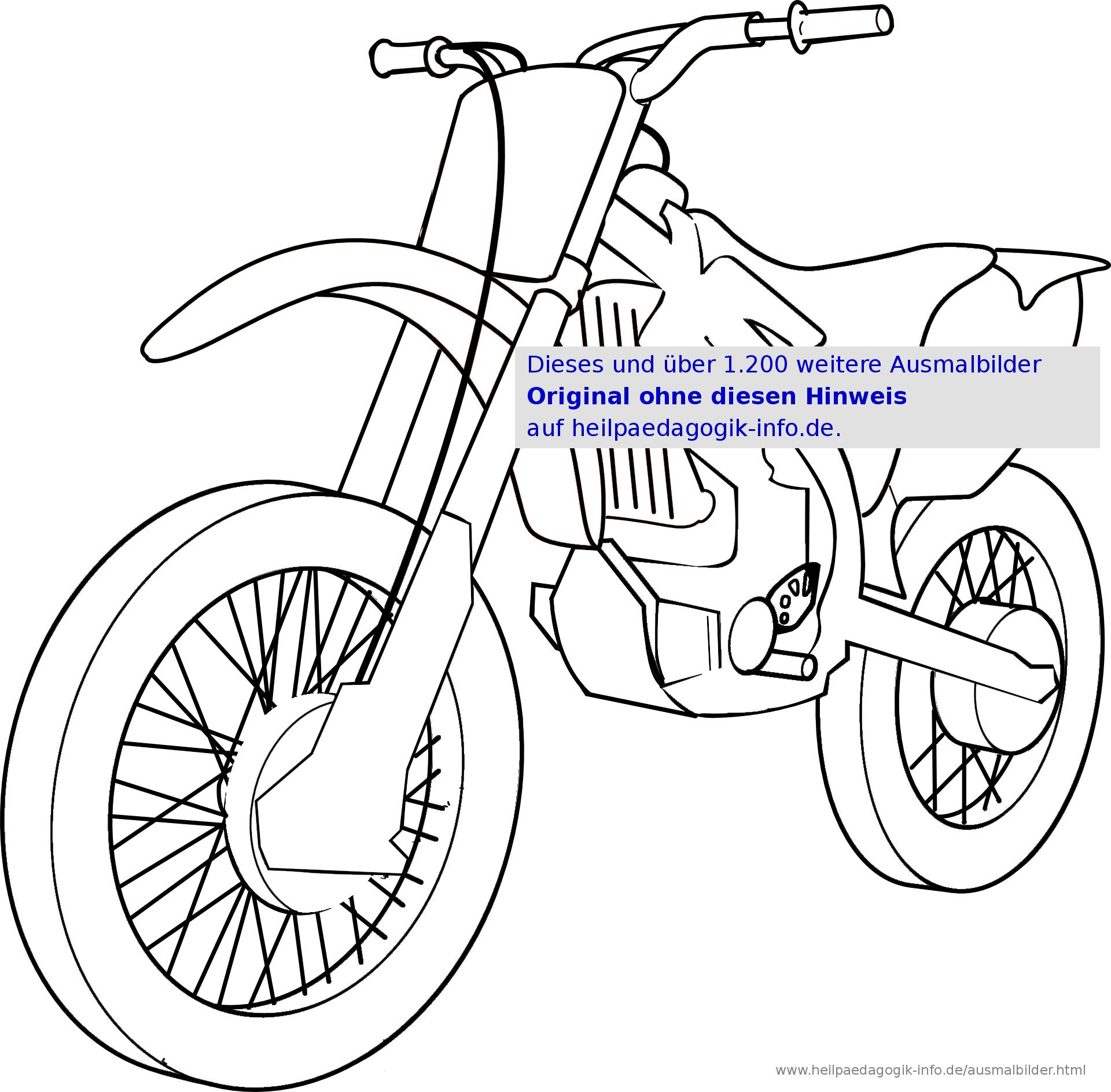 Ausmalbilder Fahrräder Und Motorräder bei Motorrad Ausmalbilder