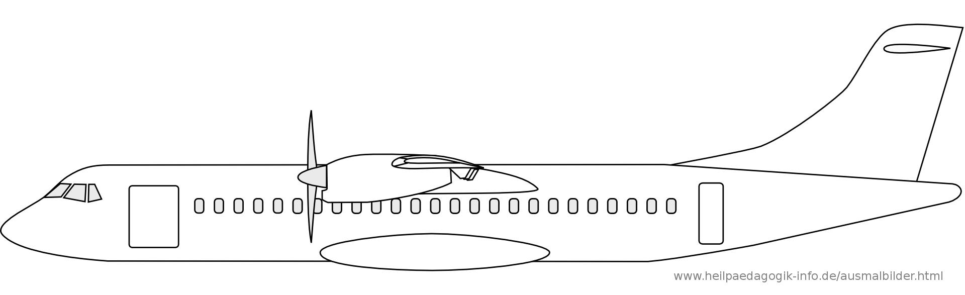 Ausmalbilder Flugzeuge bei Flugzeug Zum Ausmalen
