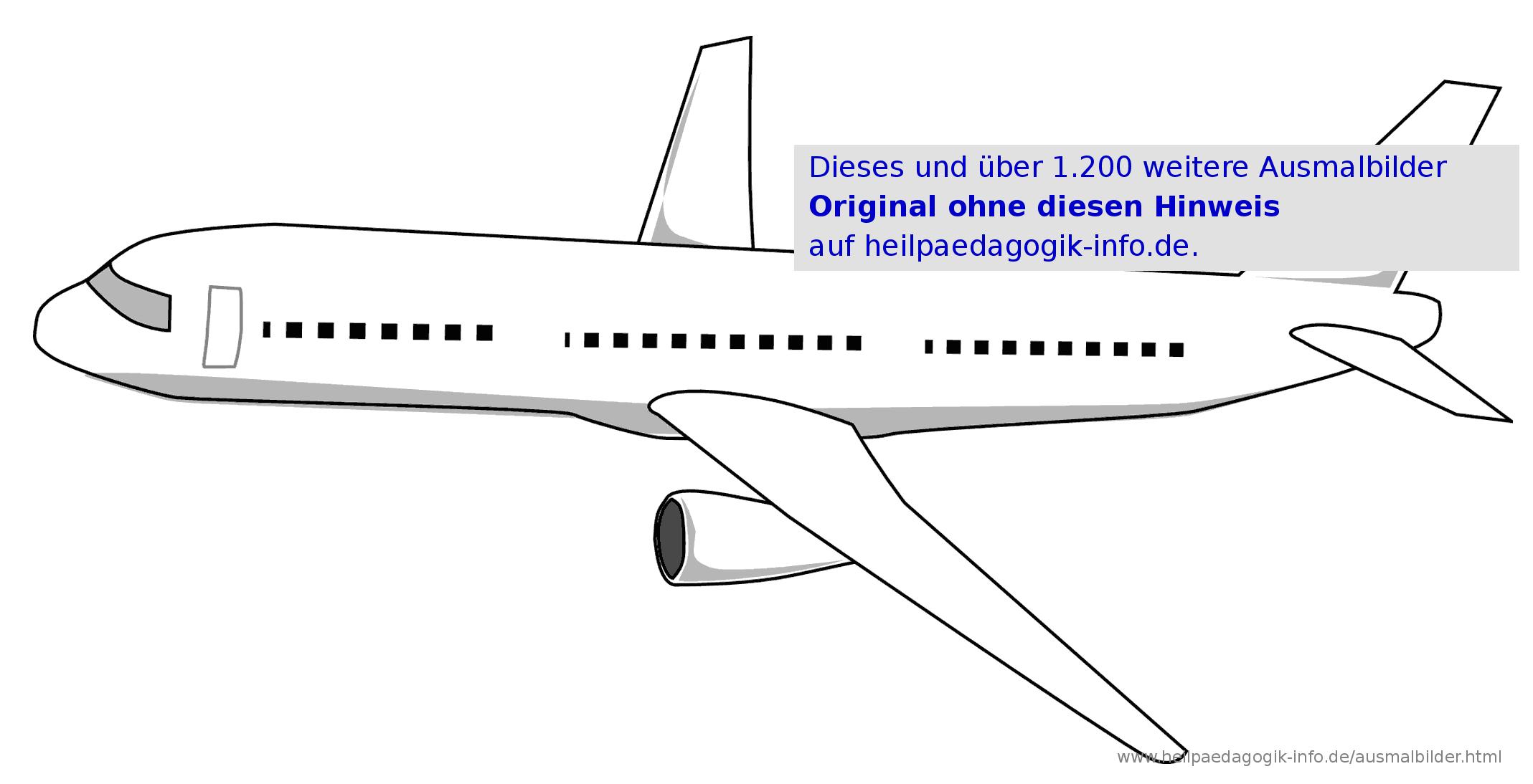 Ausmalbilder Flugzeuge bestimmt für Flugzeug Malvorlagen