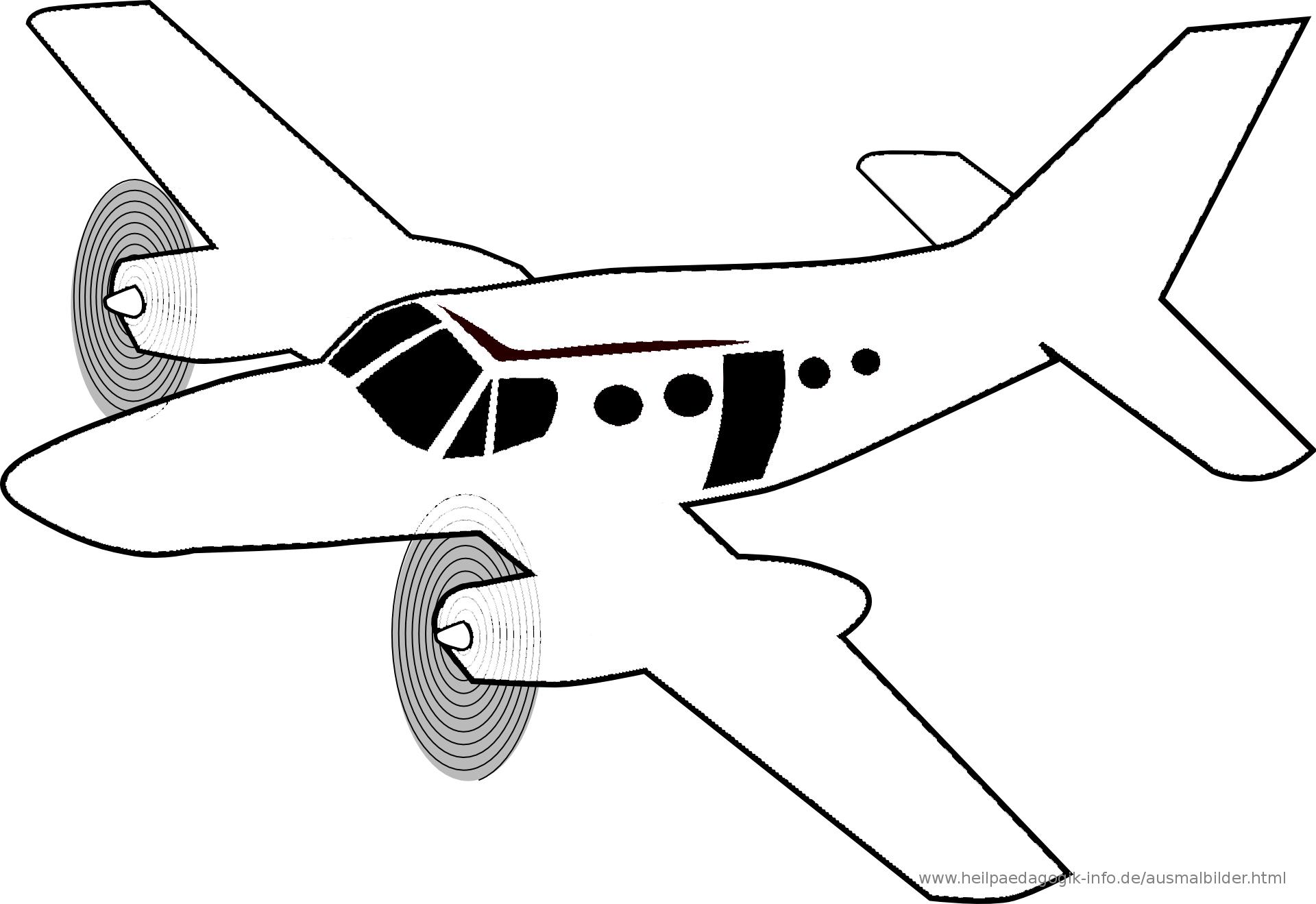 Ausmalbilder Flugzeuge mit Flugzeug Zum Ausmalen