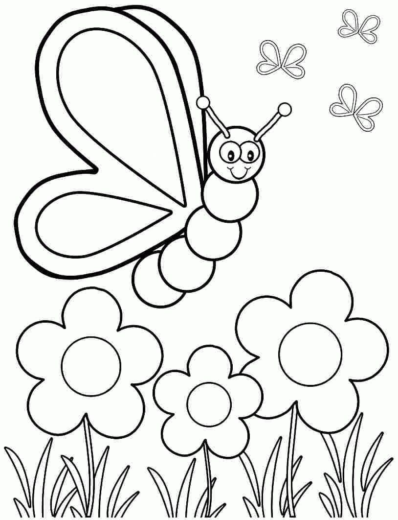 Ausmalbilder Frühling. Drucken Sie Eine Großartige Zeit Des bestimmt für Ausmalbilder Frühling