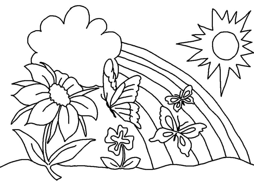 Ausmalbilder Frühling. Drucken Sie Eine Großartige Zeit Des für Ausmalbilder Frühling