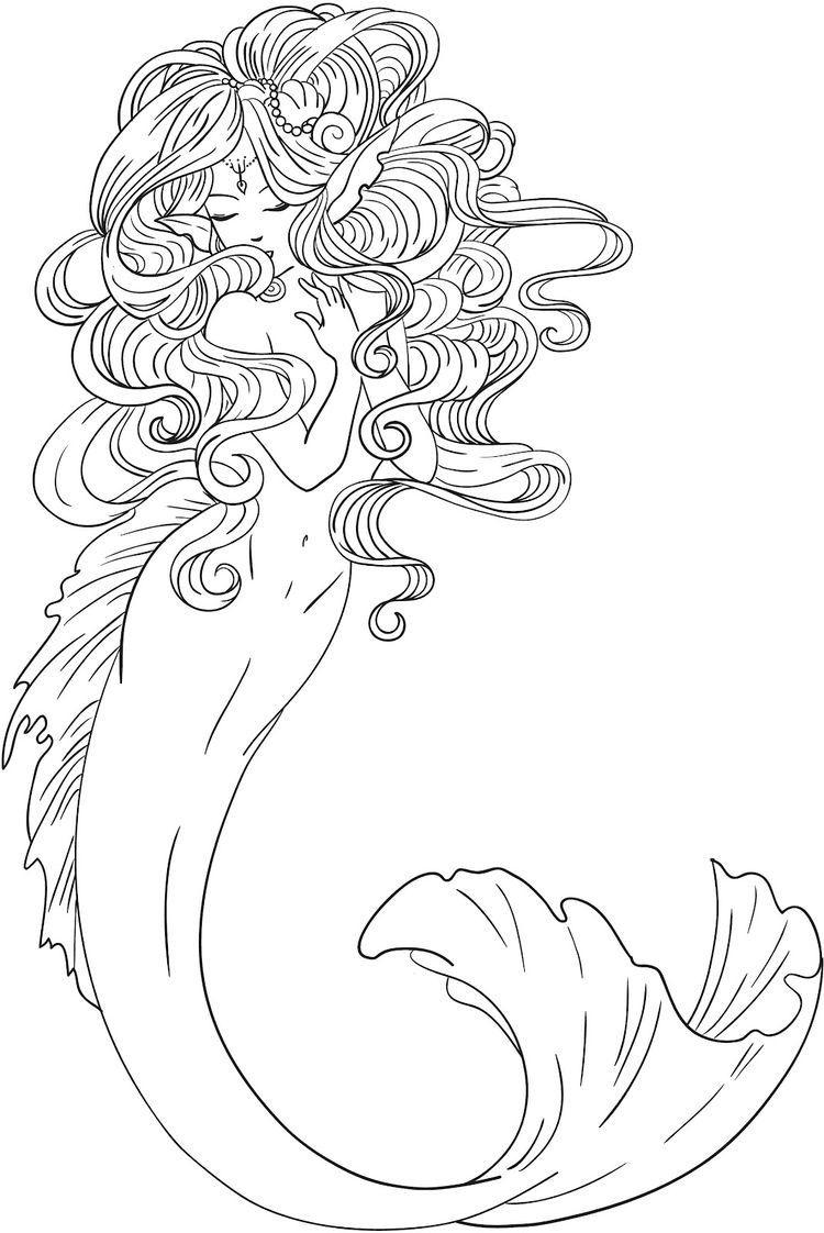 Ausmalbilder Für Erwachsene Tiere - 1Ausmalbilder bei Meerjungfrau Ausmalbilder