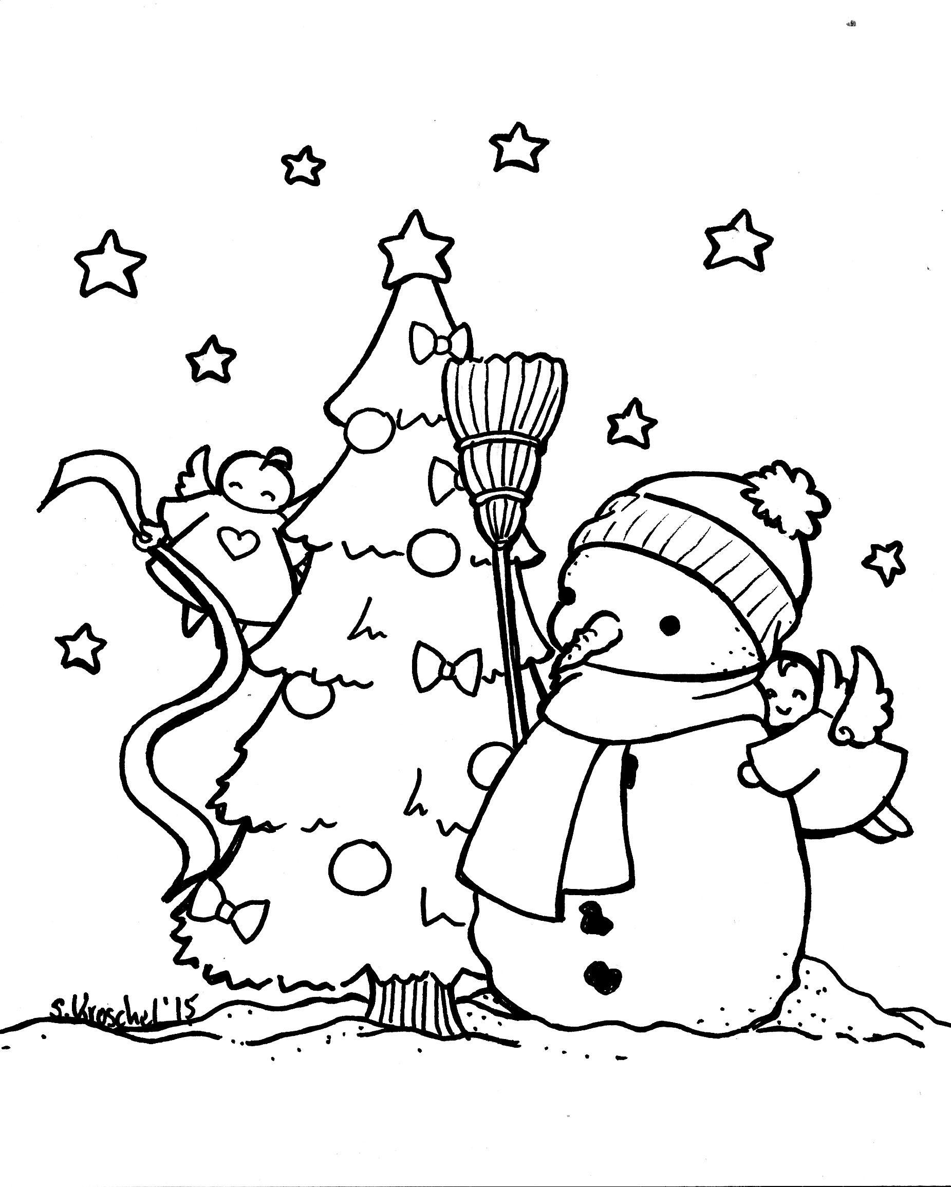 Ausmalbilder Für November (Mit Bildern mit Winterbilder Zum Ausdrucken