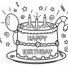 Ausmalbilder Geburtstag Bruder | Geburtstagstorte ganzes Ausmalbild Torte