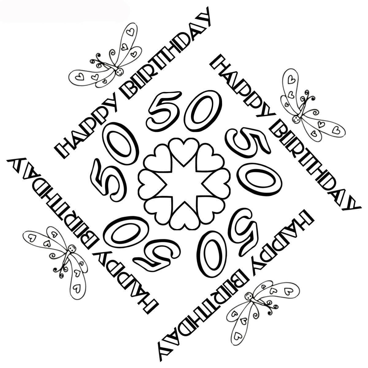 Ausmalbilder Geburtstag Zum Ausdrucken - 1Ausmalbilder bestimmt für Mandalas Geburtstag