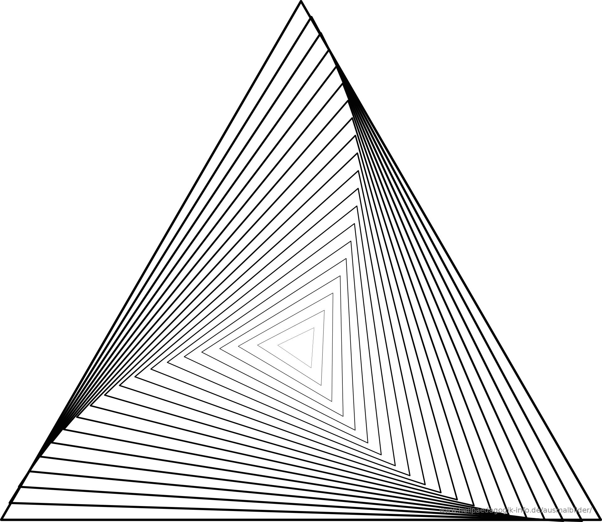 Ausmalbilder Geometrischen | Geometrische Kunst, Dreieck bestimmt für Geometrisches Zeichnen Vorlagen