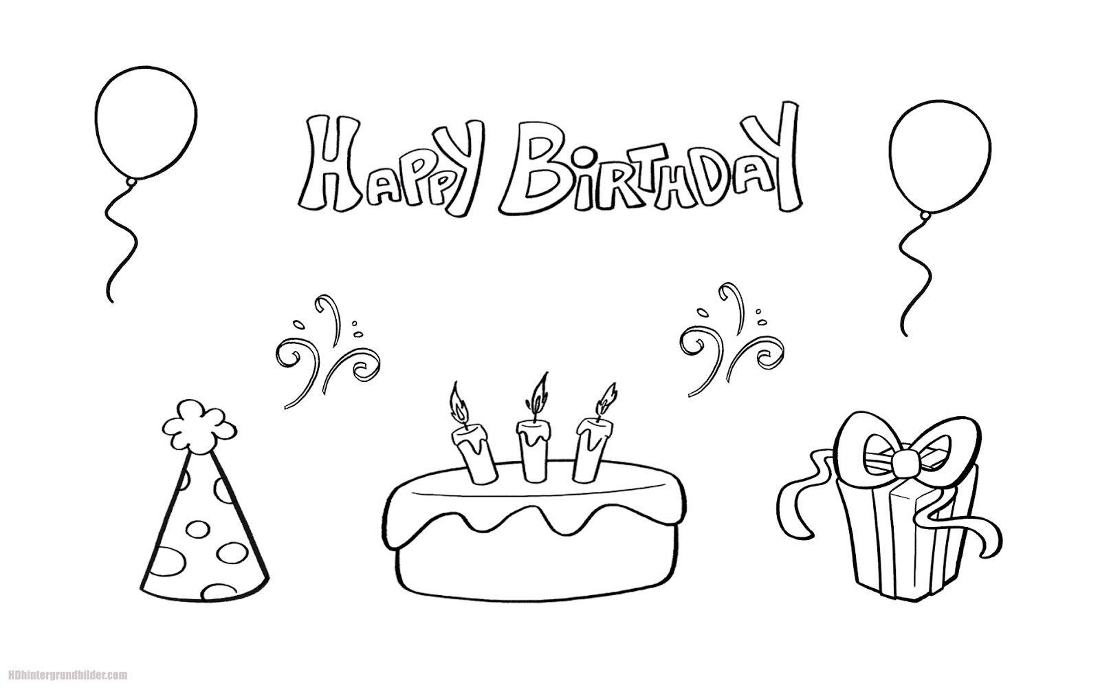 Ausmalbilder Happy Birthday Papa (Mit Bildern) | Ausmalen ganzes Happy Birthday Ausmalbilder Kostenlos