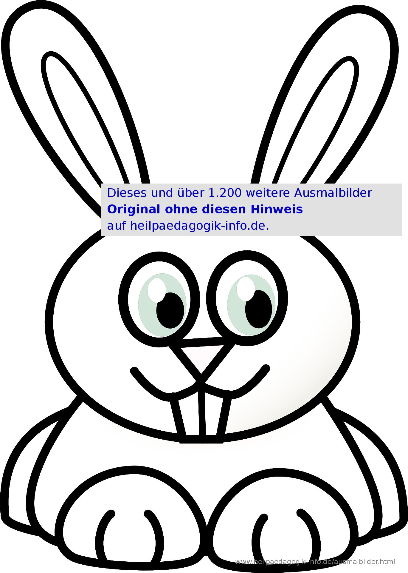 Ausmalbilder Hasen verwandt mit Hasen Malvorlage
