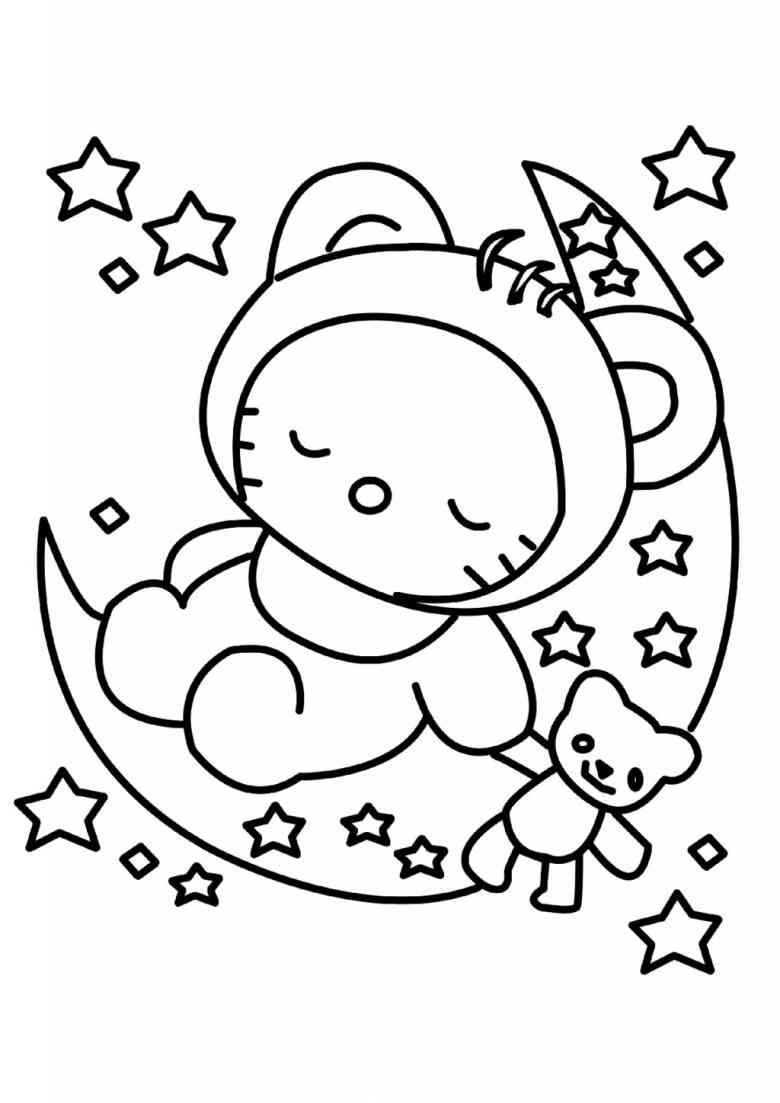Ausmalbilder Hello Kitty Zum Ausdrucken   Ausmalbilder für Hello Kitty Ausmalbilder Weihnachten