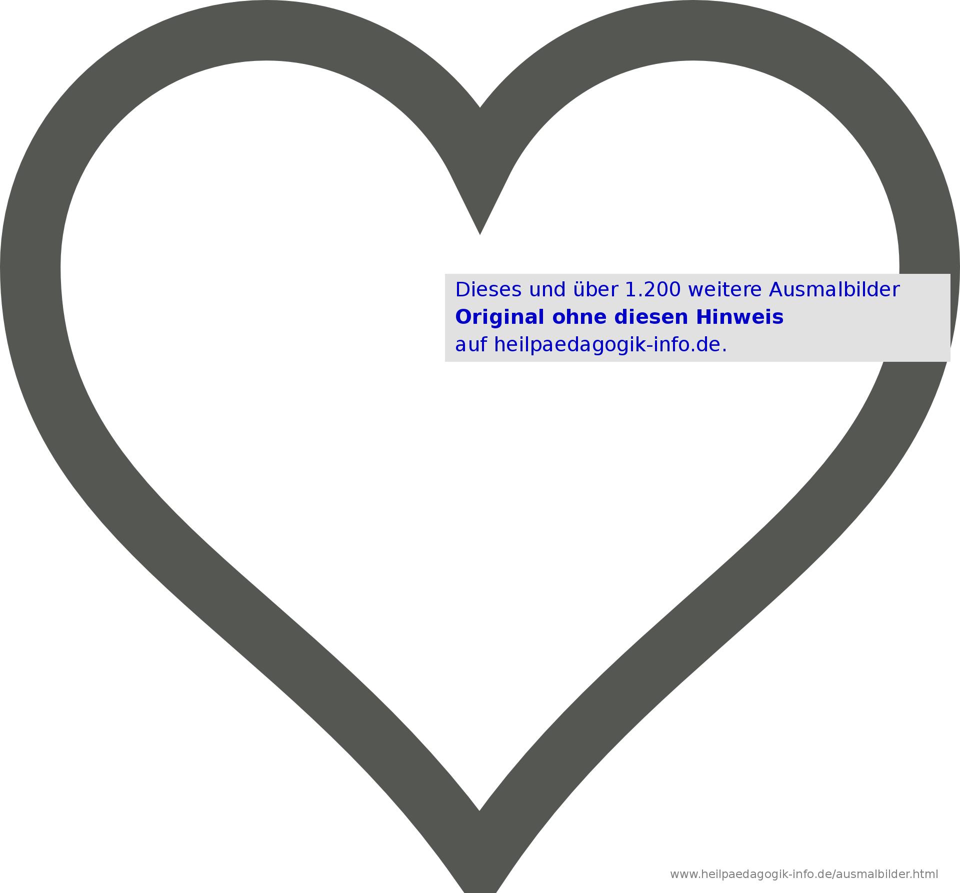 Ausmalbilder Herzen ganzes Malvorlage Herz
