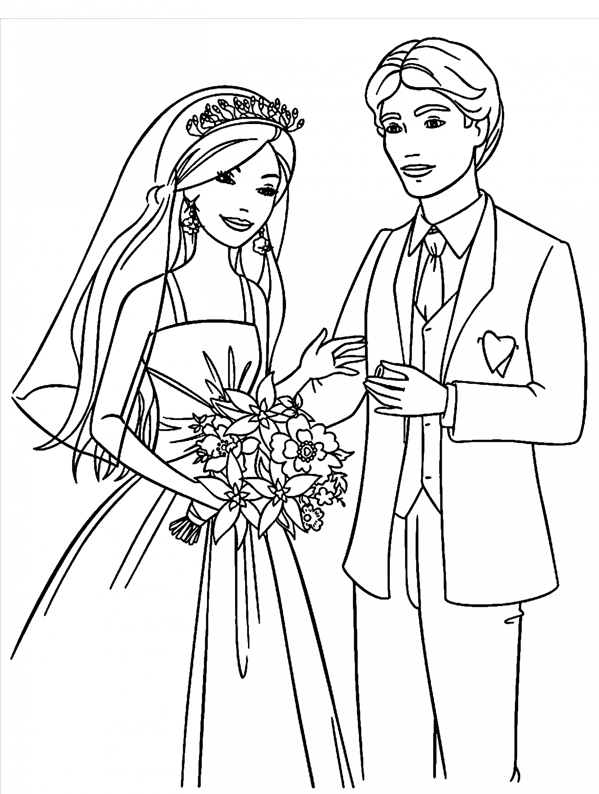 Ausmalbilder Hochzeit Zum Ausdrucken - 1Ausmalbilder bei Hochzeitsbilder Zum Ausdrucken