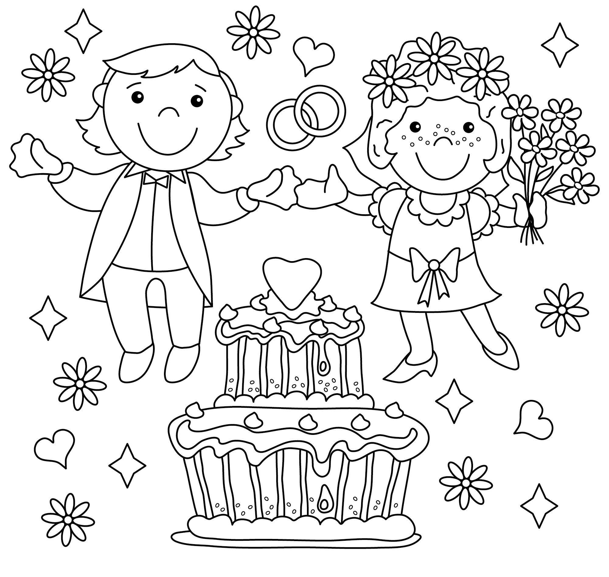 Ausmalbilder Hochzeit Zum Ausdrucken | Ausmalbilder Hochzeit über Hochzeitsbilder Zum Ausmalen