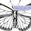 Ausmalbilder Käfer, Schmetterlinge, Insekten bei Schmetterling Malvorlagen
