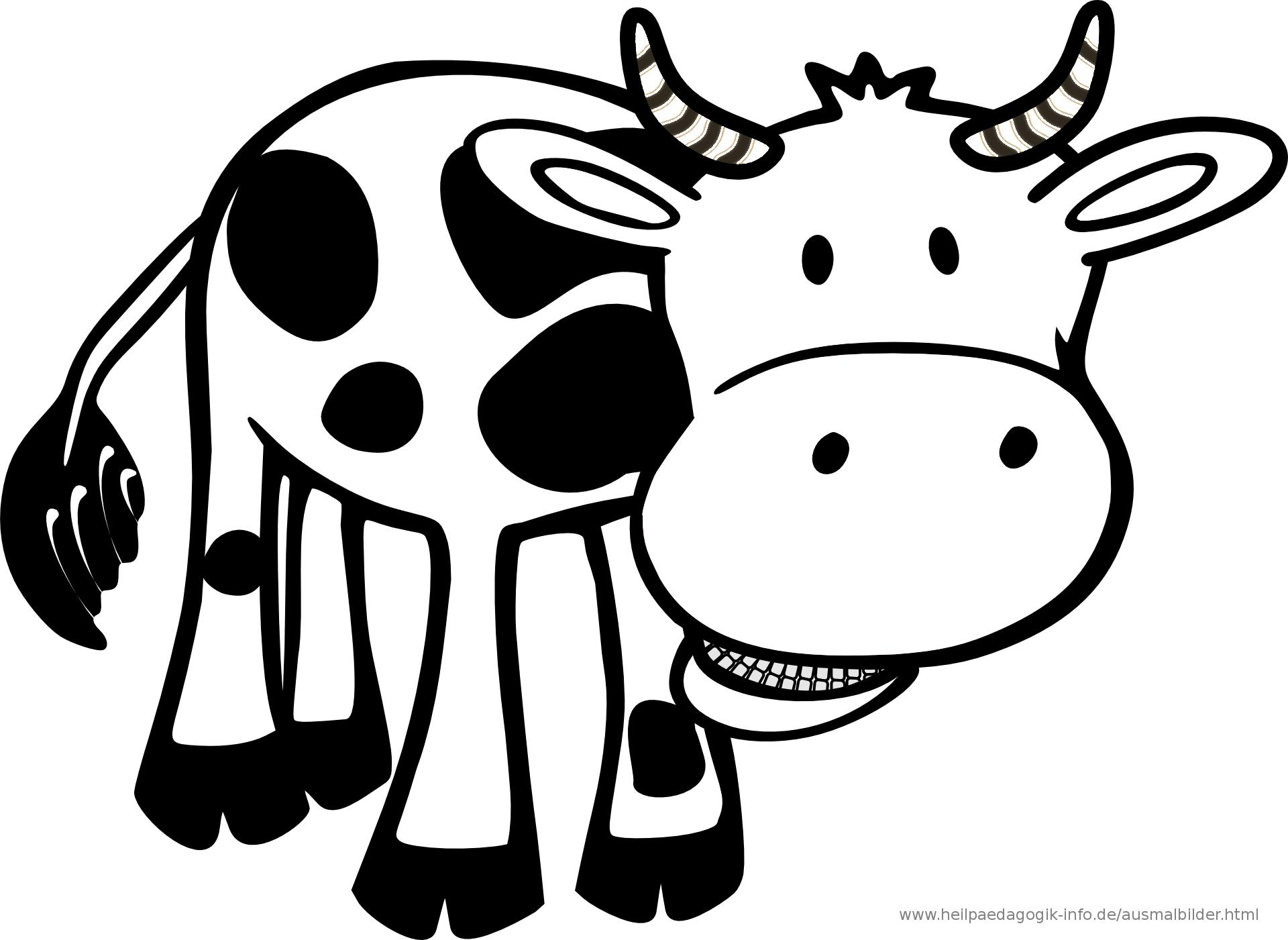Ausmalbilder Kühe mit Kuh Malvorlage
