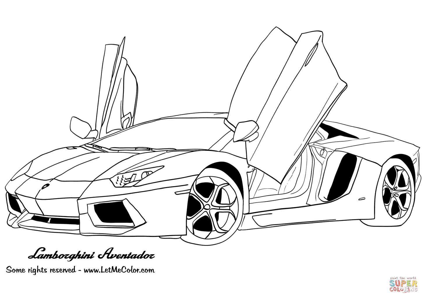 Ausmalbilder Lamborghini Gallardo (Mit Bildern)   Malvorlage verwandt mit Auto Bilder Zum Ausdrucken