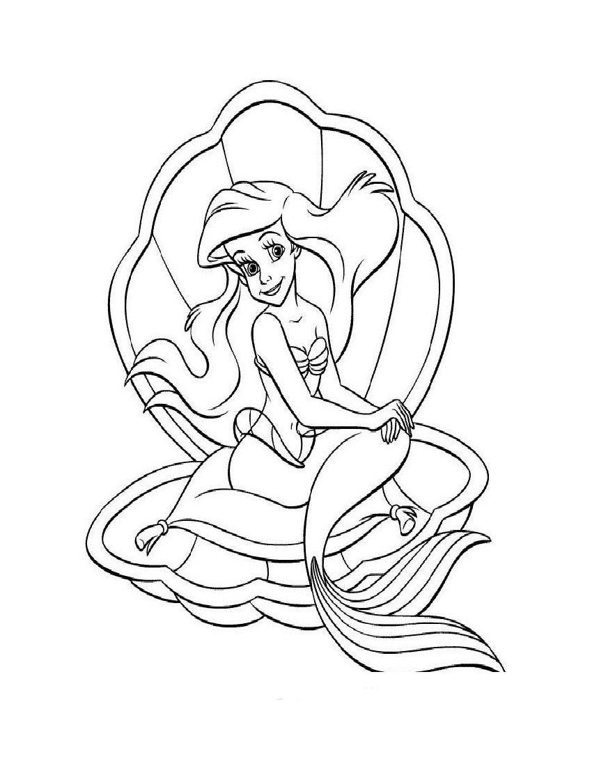 Ausmalbilder - Malvorlagen Arielle Die Meerjungfrau - Arielle verwandt mit Meerjungfrau Ausmalbilder