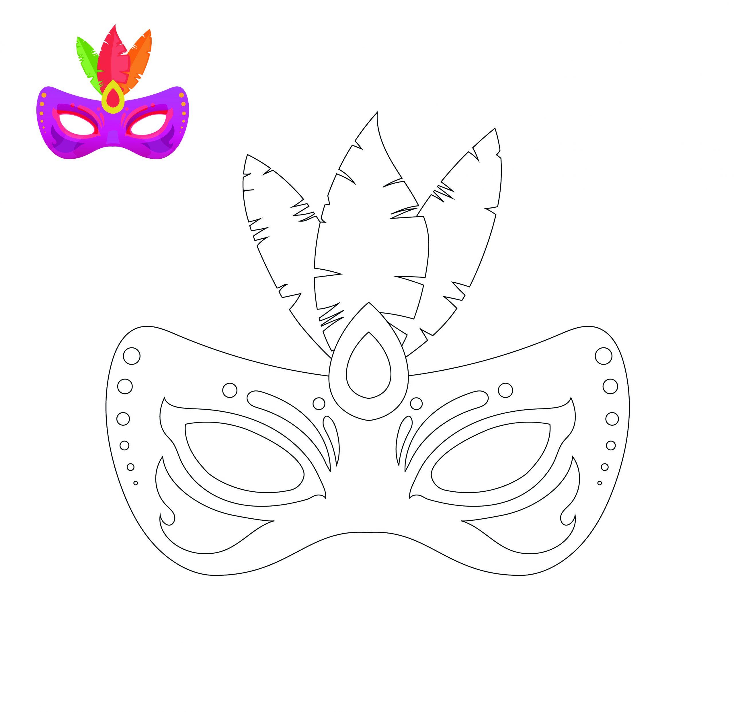 Ausmalbilder, Malvorlagen & Malbücher Sofort Kostenlos für Masken Zum Ausmalen