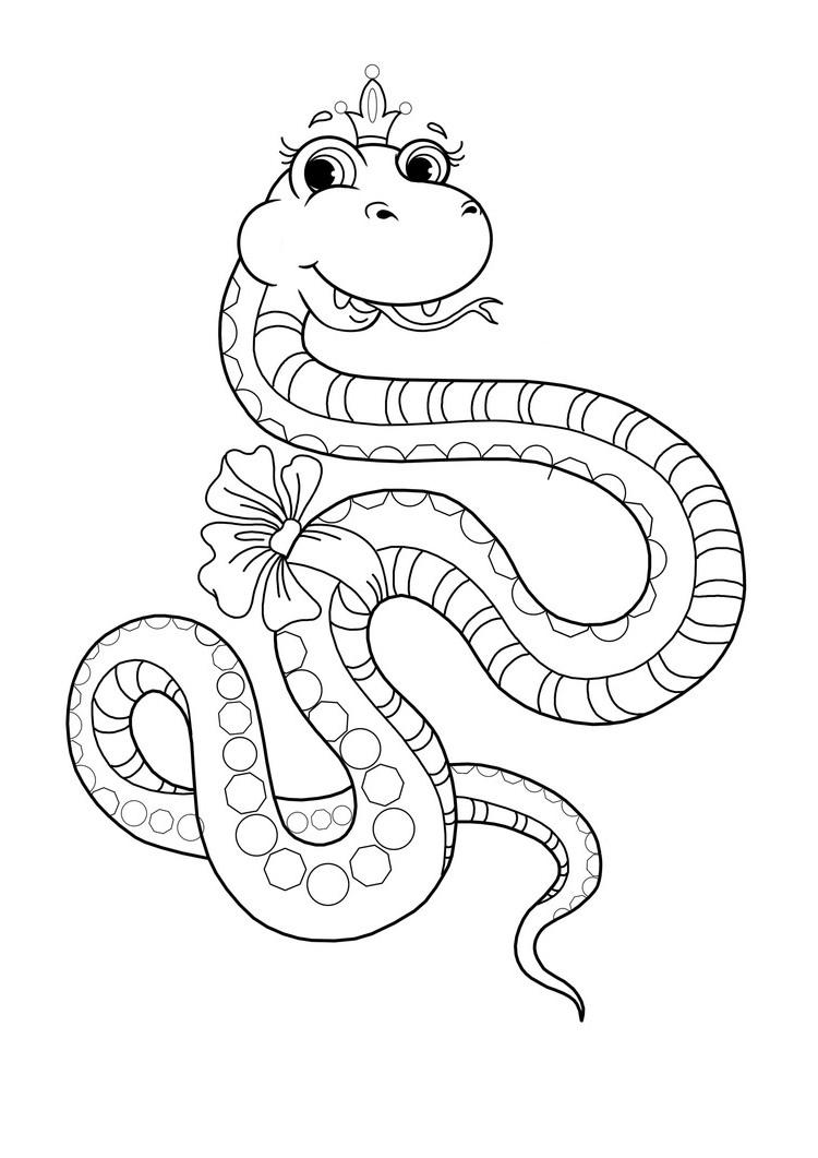 Ausmalbilder, Malvorlagen – Schlange Kostenlos Zum verwandt mit Schlange Zum Ausmalen