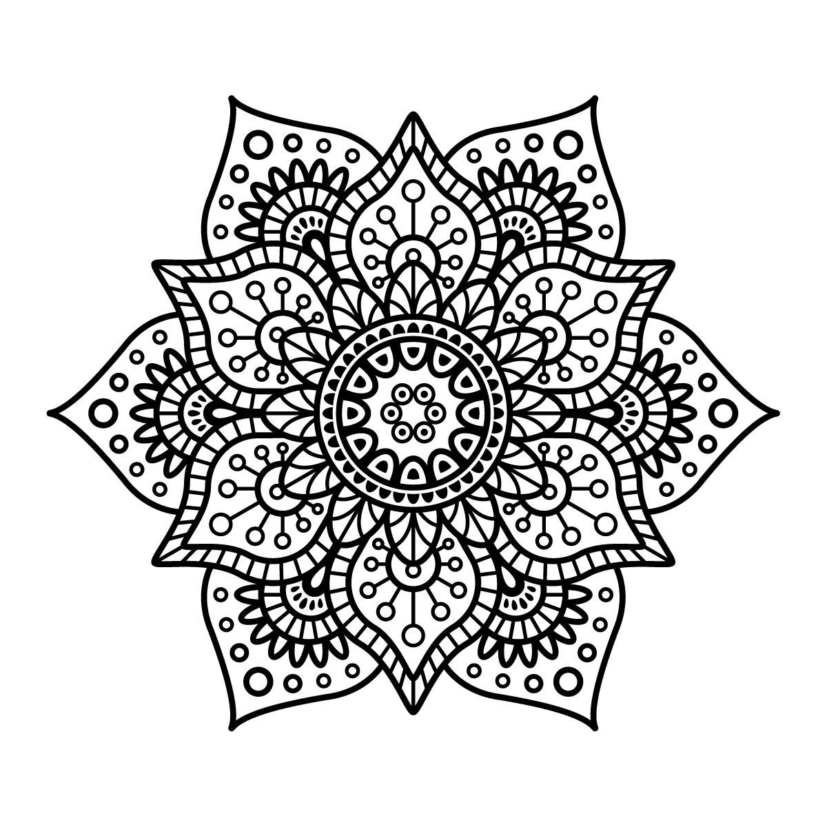 Ausmalbilder-Mandala-6 - Wunderbare Bilder in Ausmalbilder Mandala