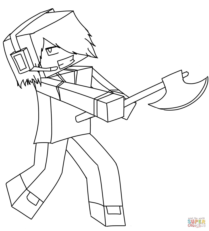 Ausmalbilder Minecraft - Malvorlagen Kostenlos Zum Ausdrucken über Minecraft Ausmalbilder Zum Ausdrucken