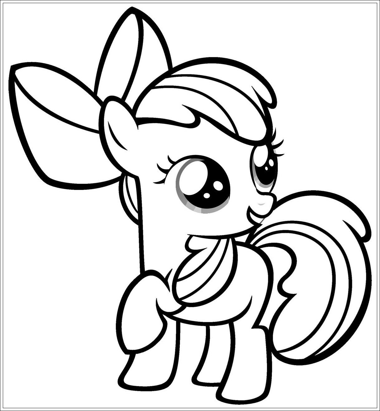 Ausmalbilder My Little Pony Zum Ausdrucken - Malvorlagen Für über My Little Pony Malvorlage