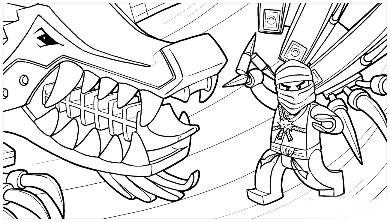 Ausmalbilder Ninjago Drache | Ninjago Ausmalbilder ganzes Ausmalbilder Ninjago Kostenlos