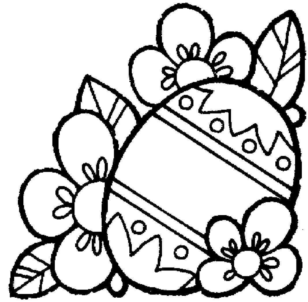 Ausmalbilder Osterei Mit Blumen 868 Malvorlage Ostern in Oster Fensterbilder Zum Ausdrucken