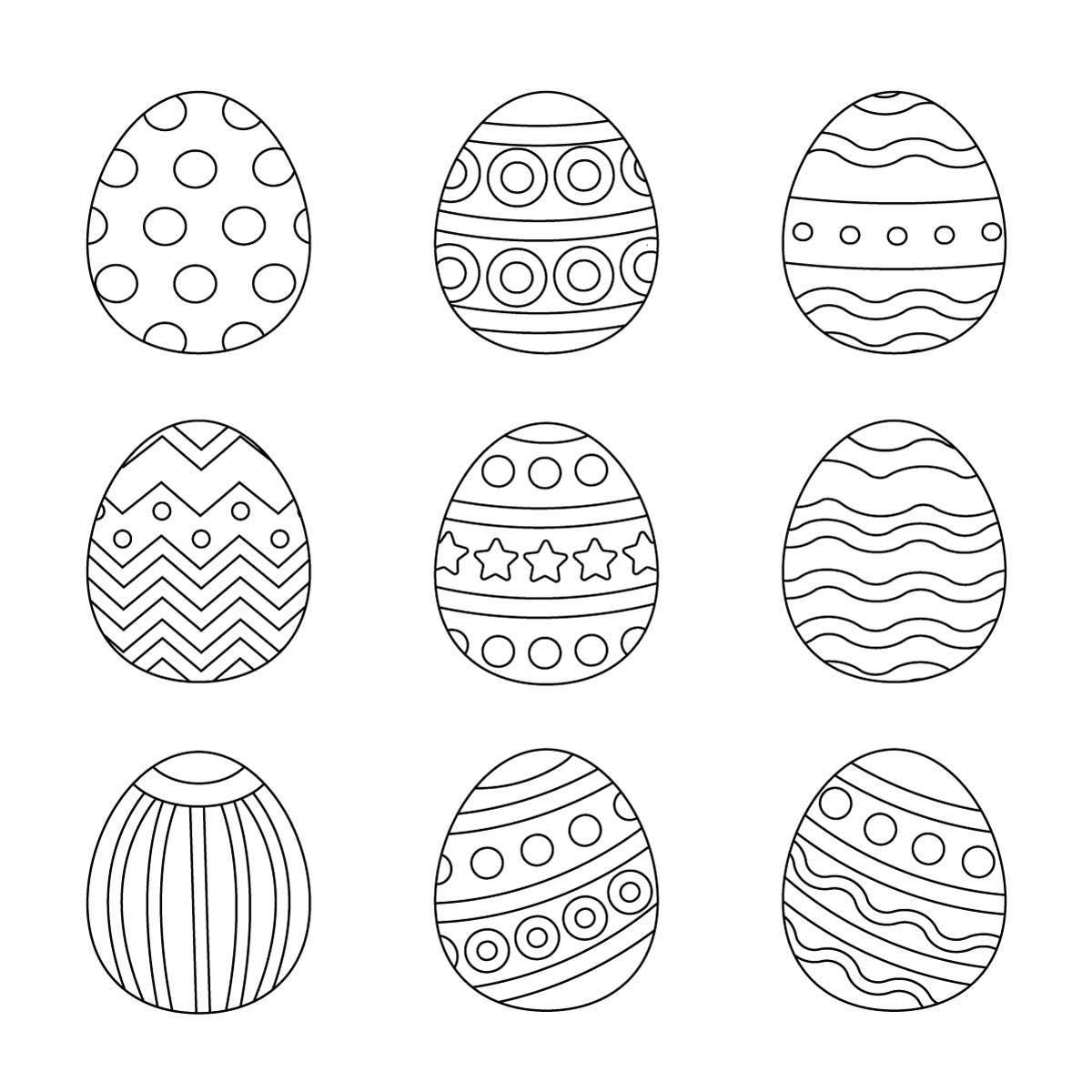 Ausmalbilder Ostern Eier - Wunderbare Bilder in Ostereier Ausmalbilder