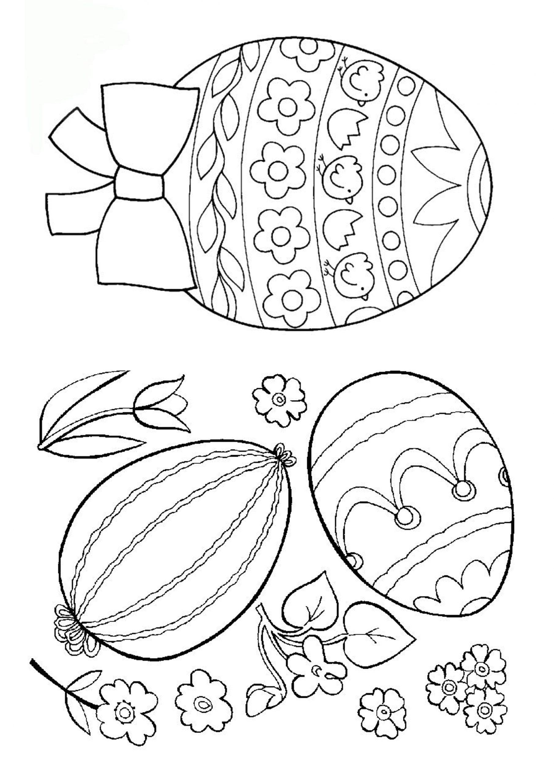 Ausmalbilder Ostern. Kostenlos Ostereier Und Hasen Ausdrucken für Oster Ausmalbilder