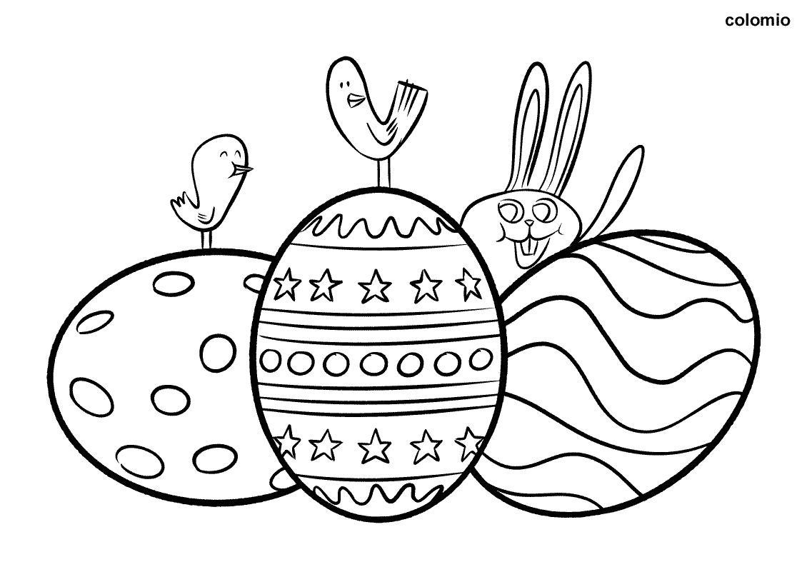 Ausmalbilder Ostern Kostenlos » Ostern Malvorlagen mit Ausmalbilder Osterhasen