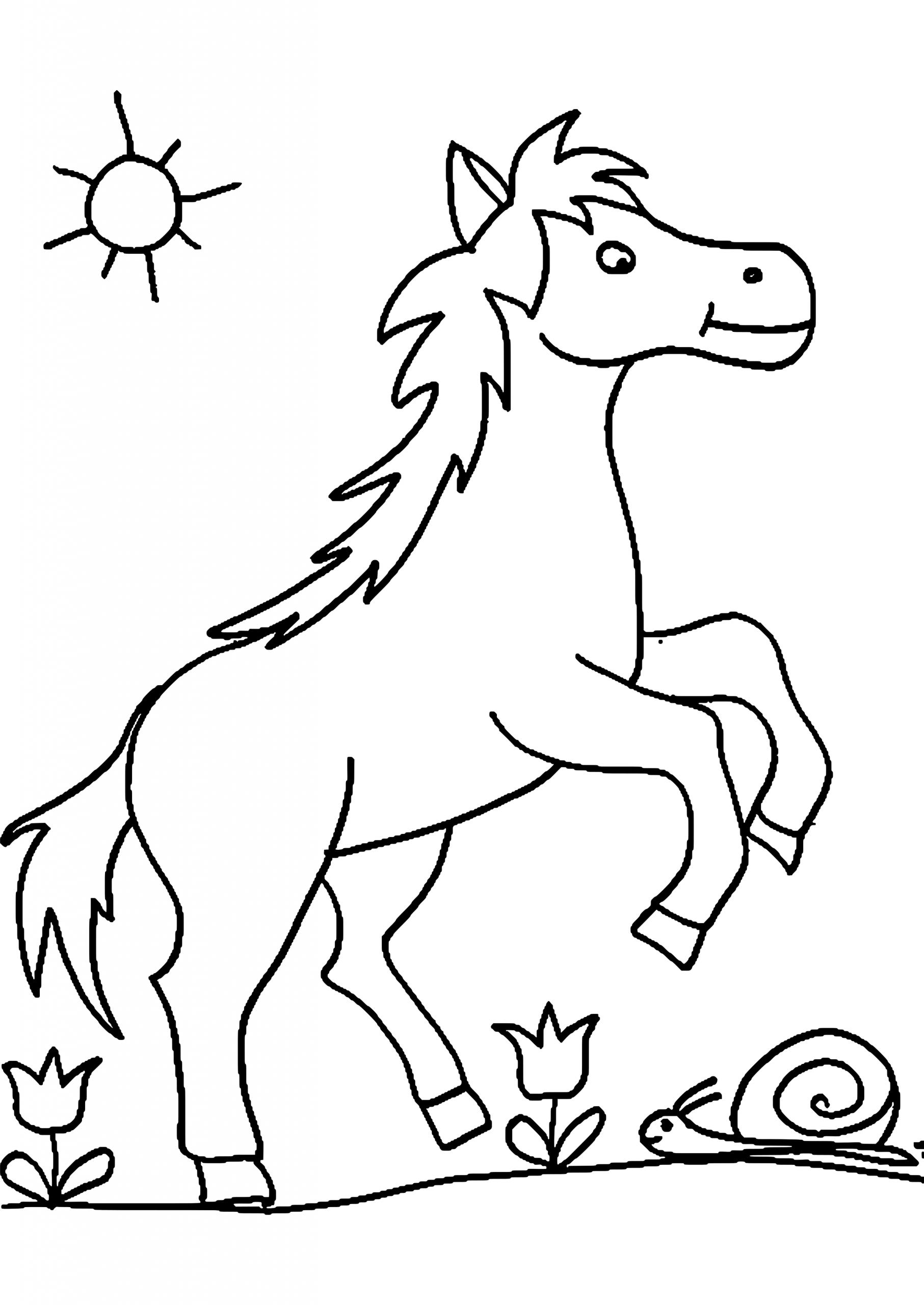 Ausmalbilder Pferde Im Schnee | Pferde Bilder Zum Ausmalen in Pferde Bilder Zum Ausmalen Und Ausdrucken Kostenlos