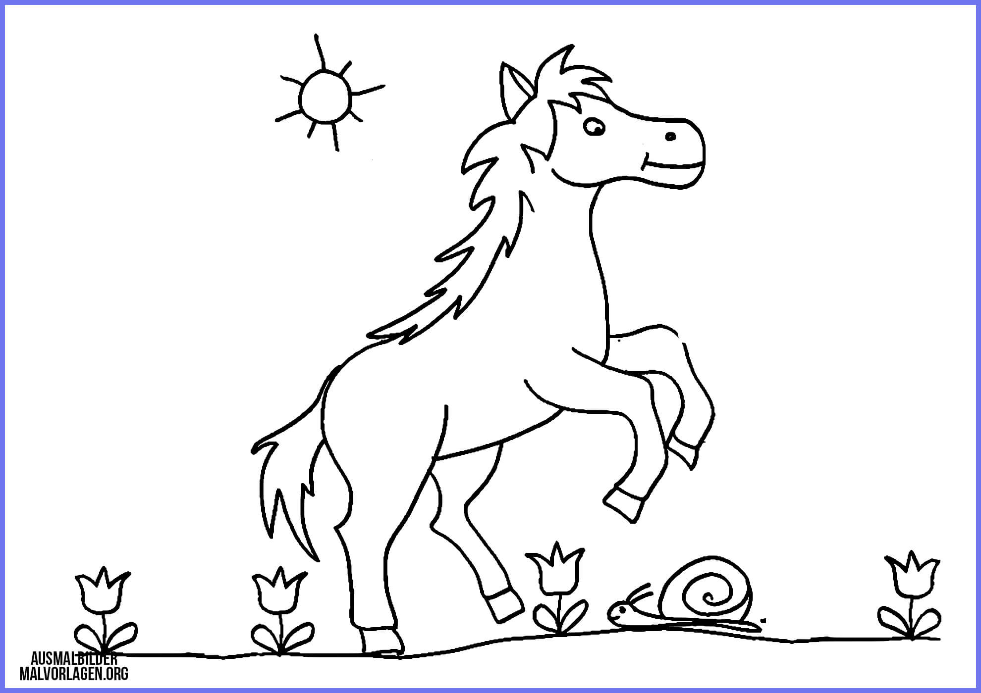 ausmalbilder pferde und ponys - kinderbilder.download