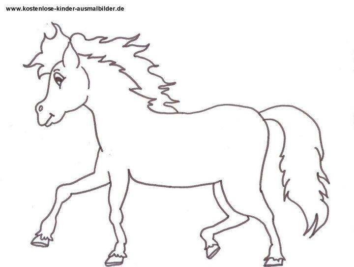 ausmalbilder von pferden zum ausdrucken  kinderbilder