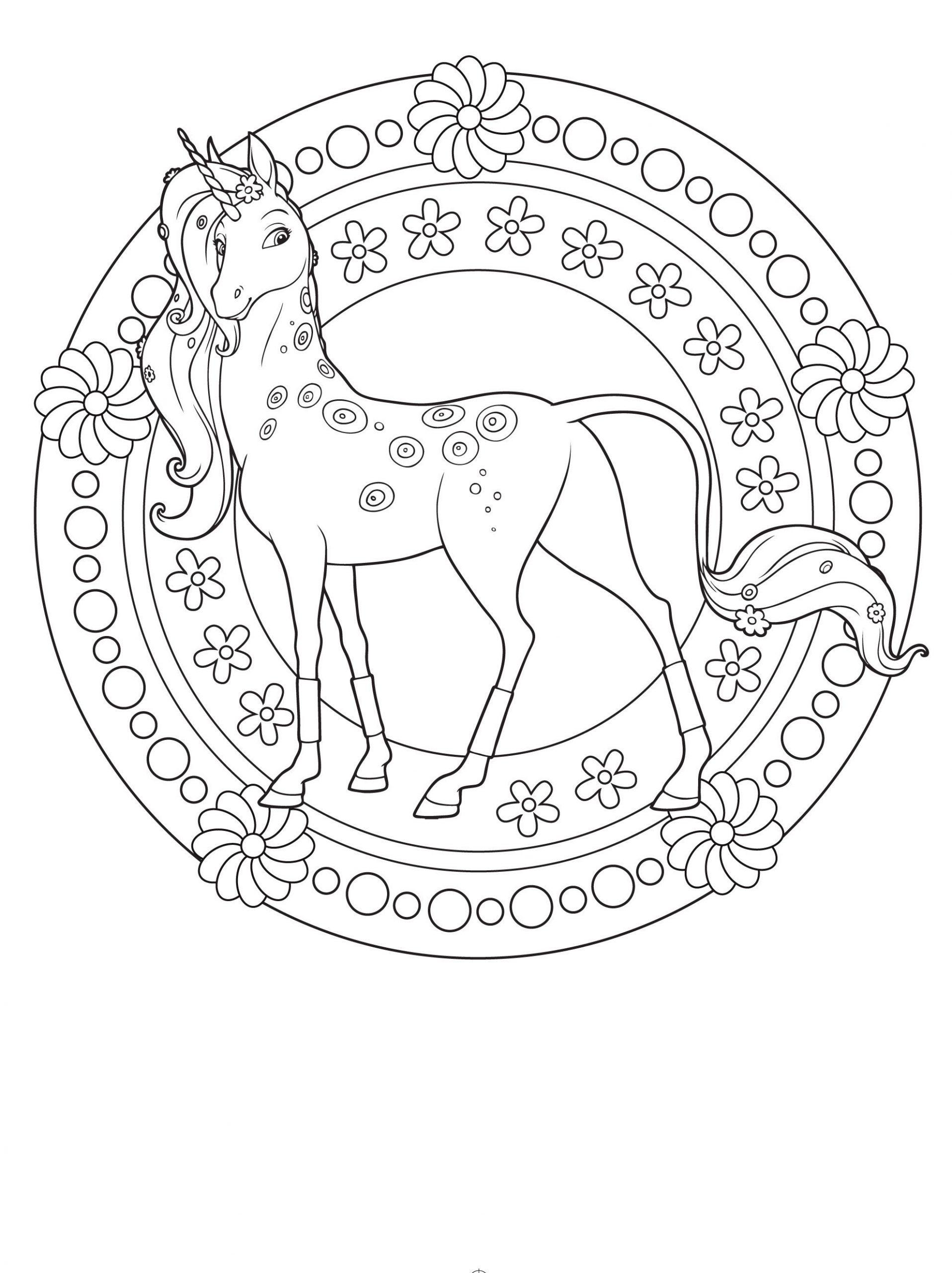 Ausmalbilder Pferde Mandala | Ausmalbilder, Einhorn Zum bestimmt für Mandala Einhorn