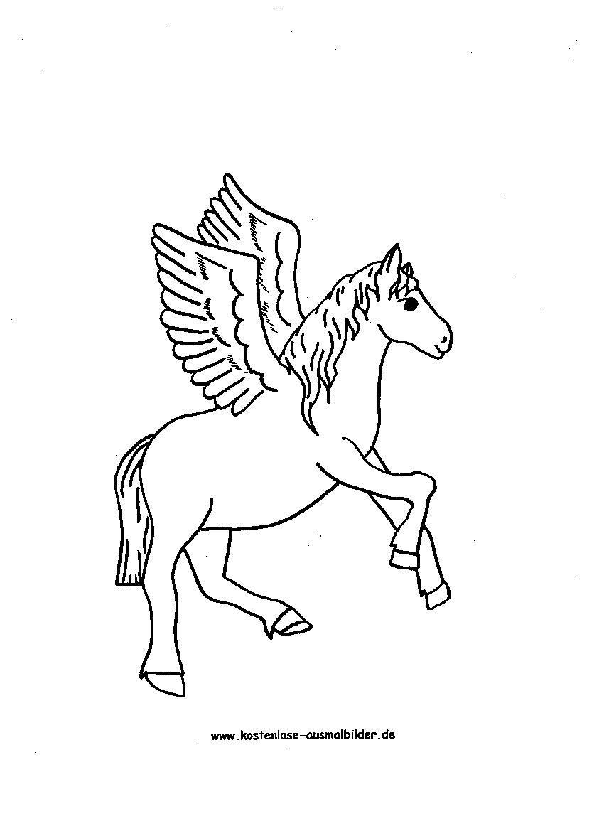 Ausmalbilder Pferde Zum Kostenlosen Ausdrucken Und Ausmalen verwandt mit Pegasus Ausmalbilder Zum Ausdrucken