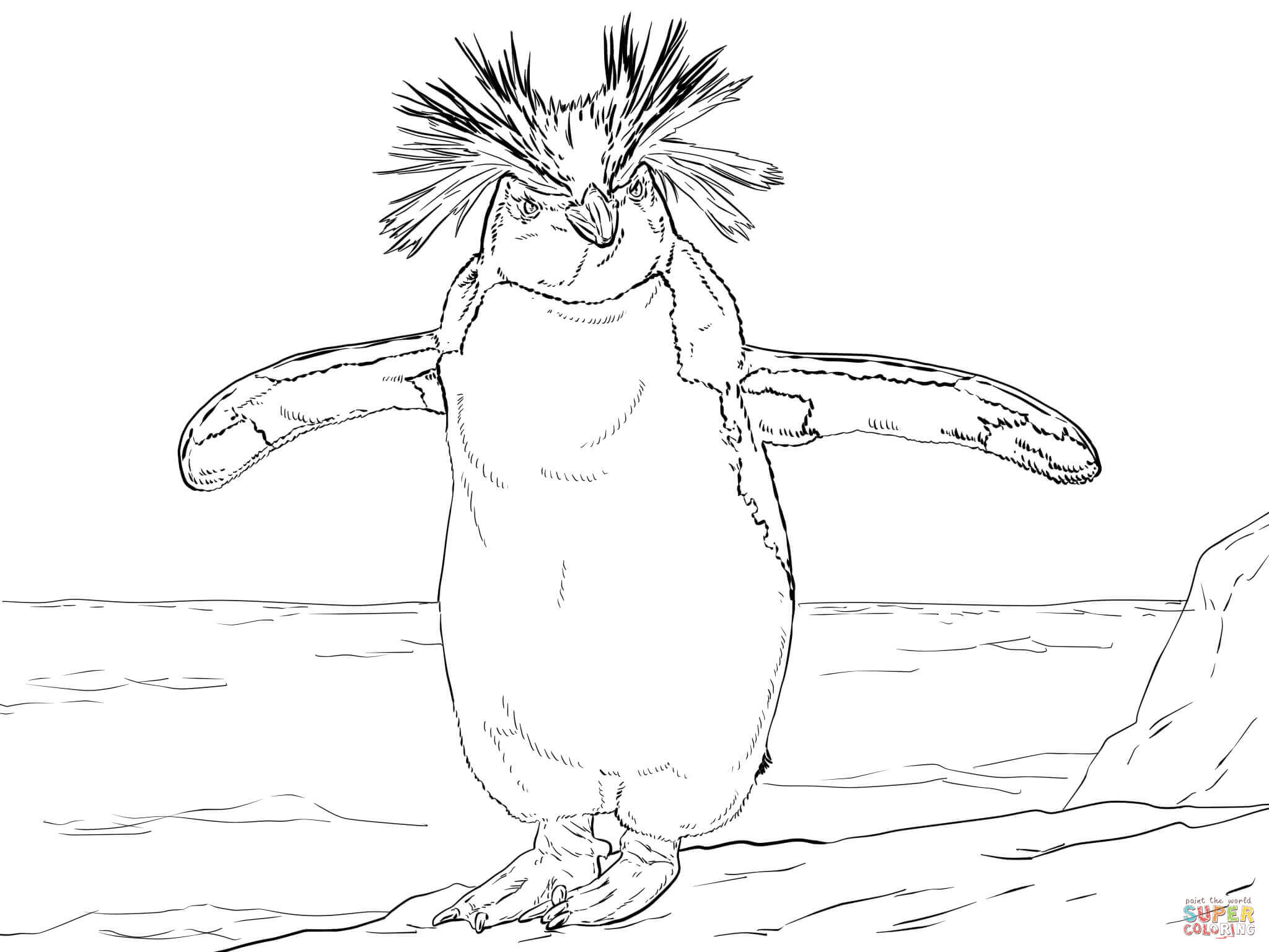 Ausmalbilder Pinguine - Malvorlagen Kostenlos Zum Ausdrucken für Pinguin Malvorlage