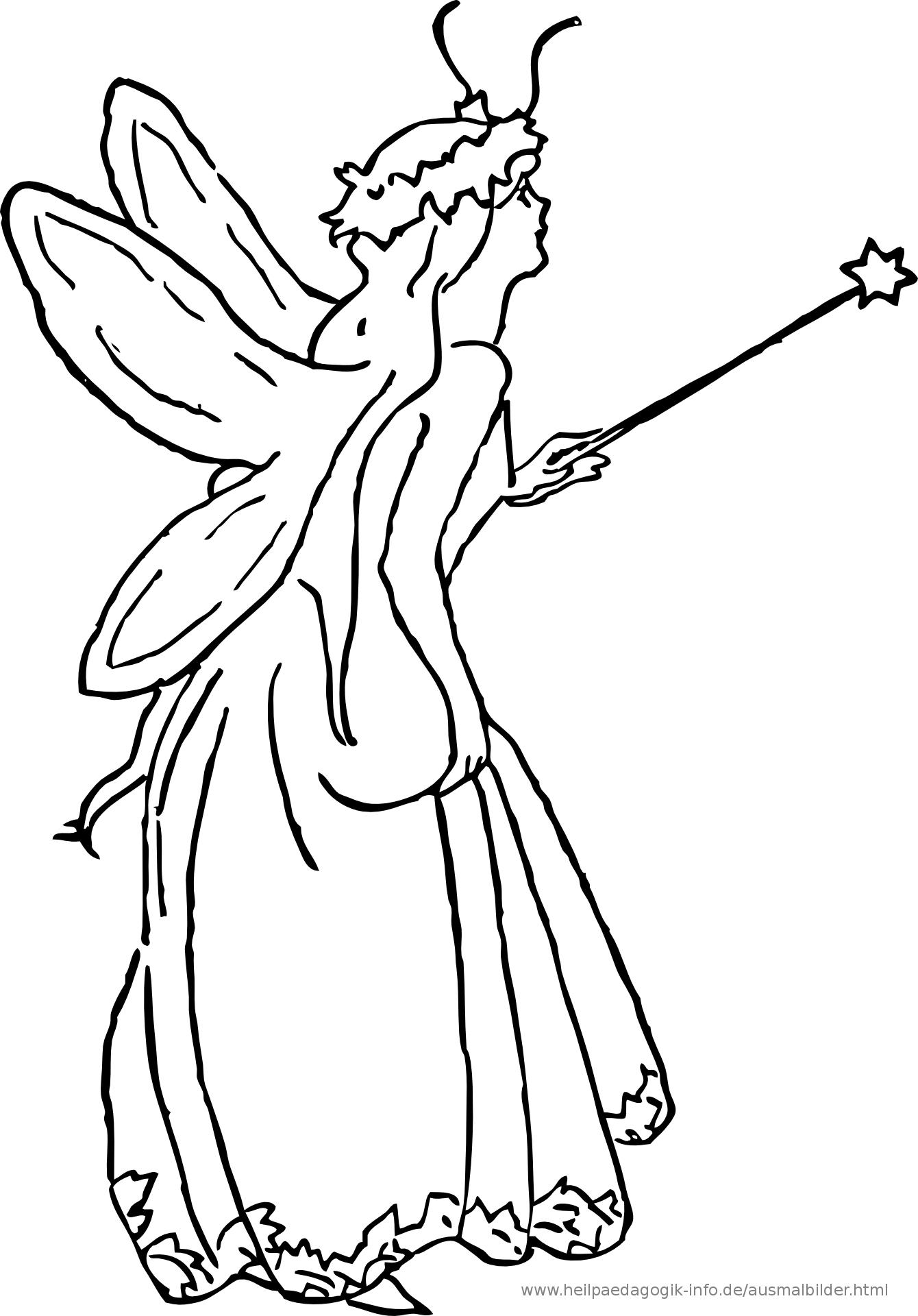 Ausmalbilder Prinzessinnen Und Feen für Ausmalbild Elfe